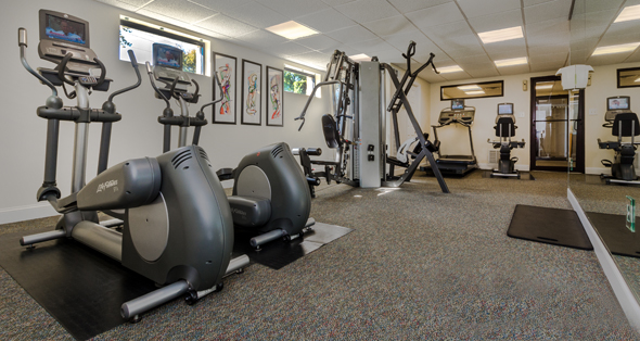 Amenities at Alexandria apartments include a fitness center.