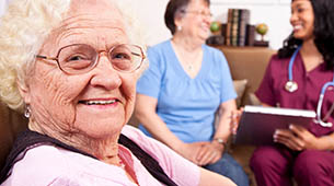 skilled nursing hospitality and senior living services at Wheatland Nursing Center in Russell, KS.