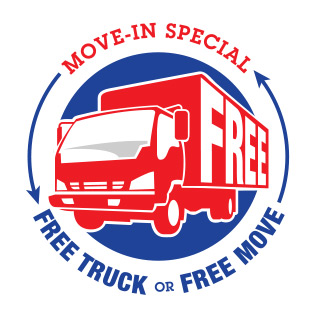 Free move-in truck when you use Treasure Island Storage for your self storage needs.
