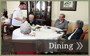 Information about Heritage Green's dining services.