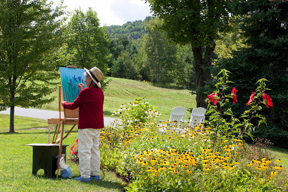 Assisted senior living manchester center vermont painting