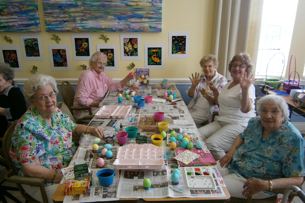 Easter egg party senior living manchester center vt