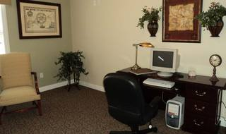 Library and office in Nashville senior living facility
