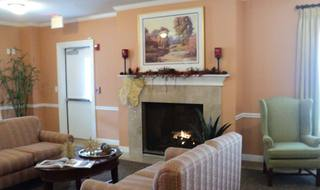 Spacious living room in Nashville senior living facility