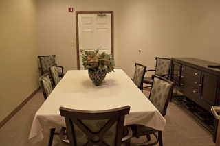 Private dining facility for senior living in astoria