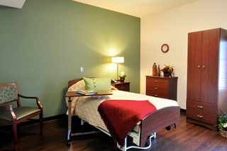 Private bedroom at senior living in cuyahoga falls