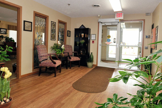 Main entrance to our skilled nursing home in akron