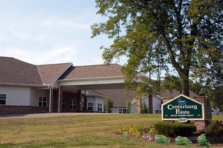 Centerburg outdoor entrance to skilled nursing facility