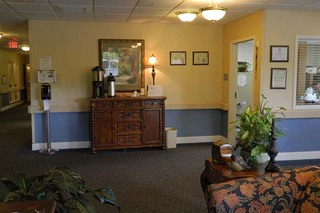 Chatham building lobby at skilled nursing