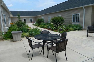 Chatham skilled nursing patio
