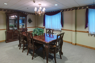 Dunmore family dining room at skilled nursing