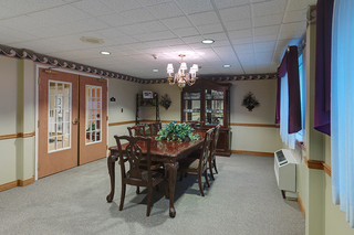 Family dining room at dunmore skilled nursing