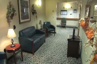 Sitting room at scranton skilled nursing