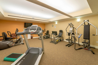 Exercise room available to residents