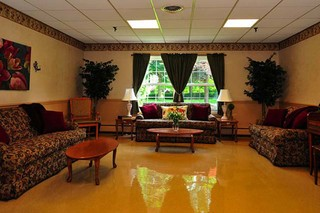Sitting area at painesville skilled nursing