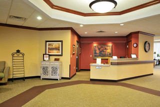 Lobby room at brecksville skilled nursing