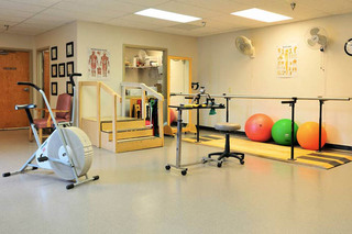 Gym at the willows health center