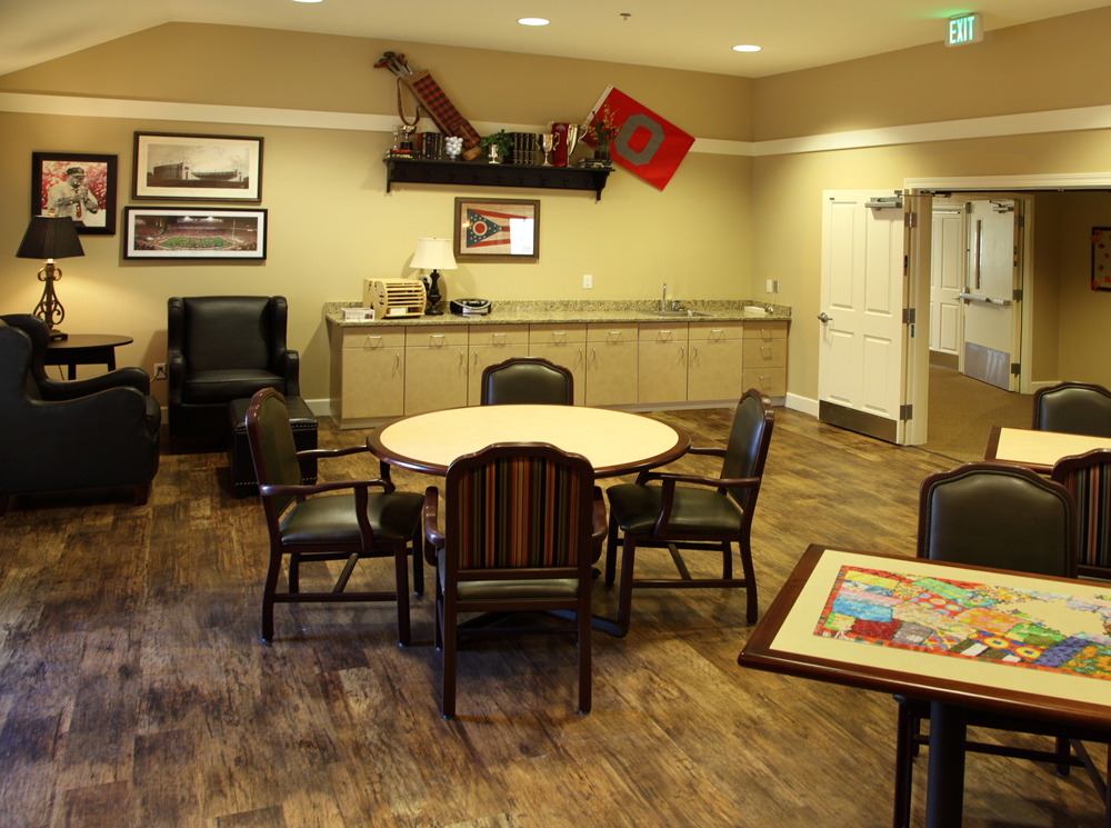 Glenwood alzheimers special care center lounge area