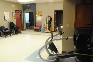 Gym at caring heights community care