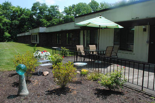 Patio at caring heights community care