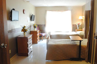 Semi private room at caring heights community care