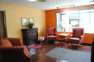 Sitting area at caring heights community care