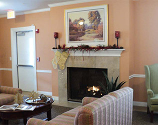 Spacious living rooms at the senior living facility in Nashville