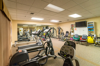 Exercise equipment on-site