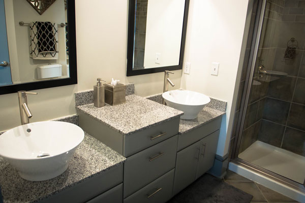 Bathrooms with luxury vessel sinks
