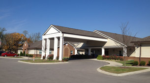 Exterior building at the senior living facility in Nashville