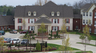 Exterior building in Murfreesboro senior living facility