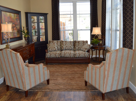Common area in Reno senior living facility