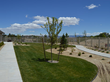 Senior living in Reno have well landscaped yards