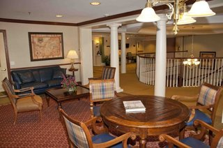 Second floor and library royal oak senior living