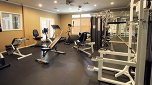 Fitness center and other amenities found at The Marquis at Barton Trails in Austin, TX.