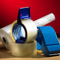 Packing tape makes securing your boxes easier for storage.
