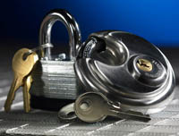high security locks available at pouch self storage in california