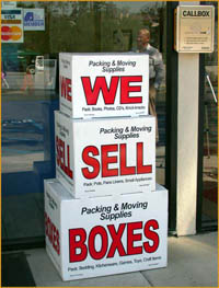 moving boxes and self storage supplies at Pouch Storage