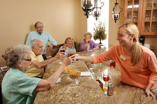 Friends at the bar tequesta senior living