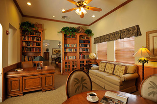 Modern library florida senior living home
