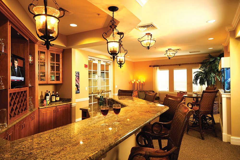 Recreational bar at tequesta florida senior living