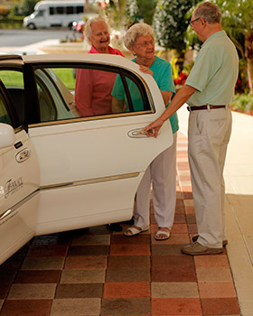 Transportation services atScarborough Terrace in Scarborough ME senior living.