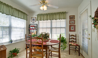 Independent living model dining room in kennett