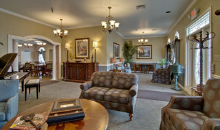 Assisted living community lobby in jackson