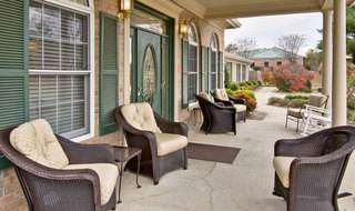 Assisted living porch in jackson