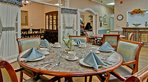 Services and amenities for senior living residents at Alexandria Place.