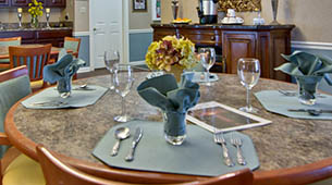 Services and amenities for senior living residents at Asbury Cove.