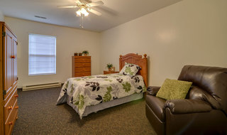 Farmington assisted living model bedroom