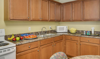 Farmington senior living model kitchen