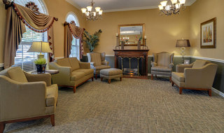Assisted living community fireplace in cape girardeau